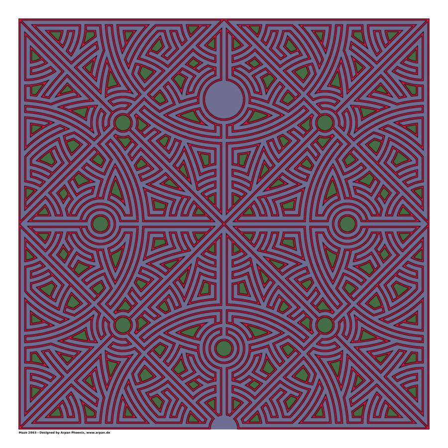 Maze 2863  Print