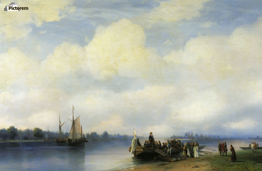 Arrival of Peter I on the Neva  Print