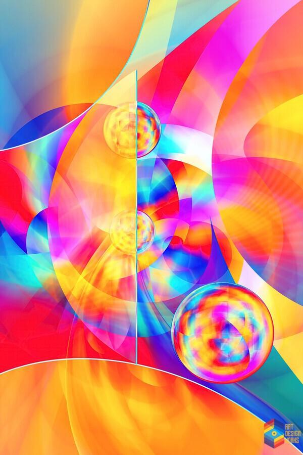 4th Dimension -Abstract Art XVII  Print