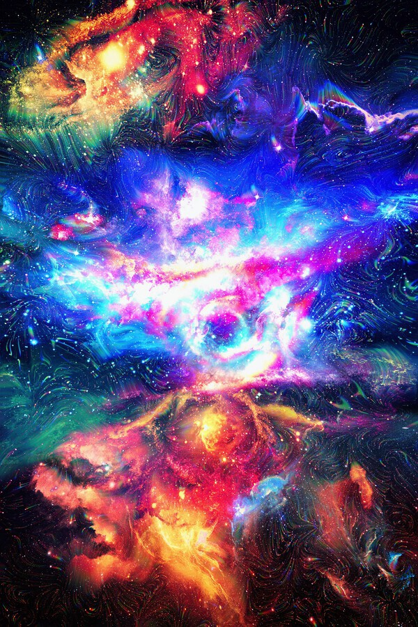 buy online f5843 47a03 Colorful Galaxy - Art Design Works Canvas