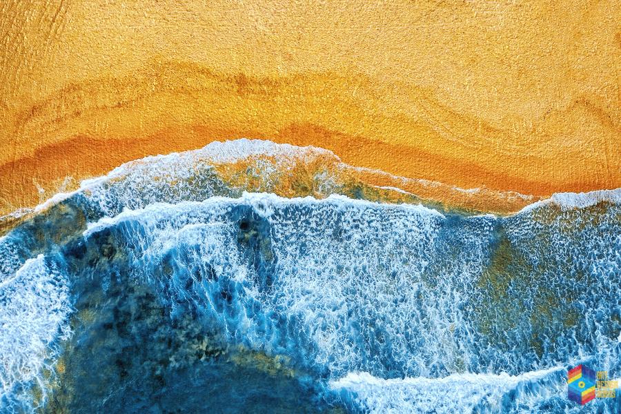 Golden Beach I  Print
