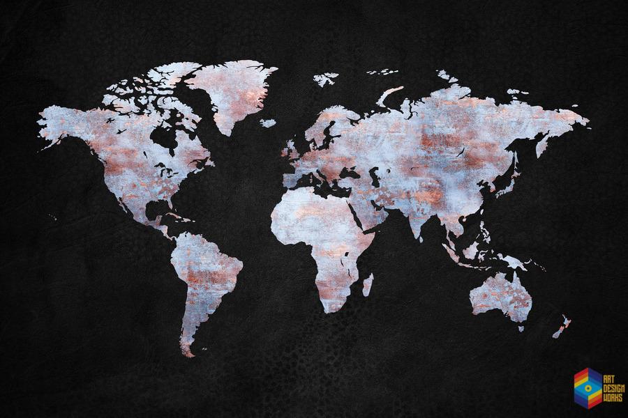 Artistic World Map XII  Print