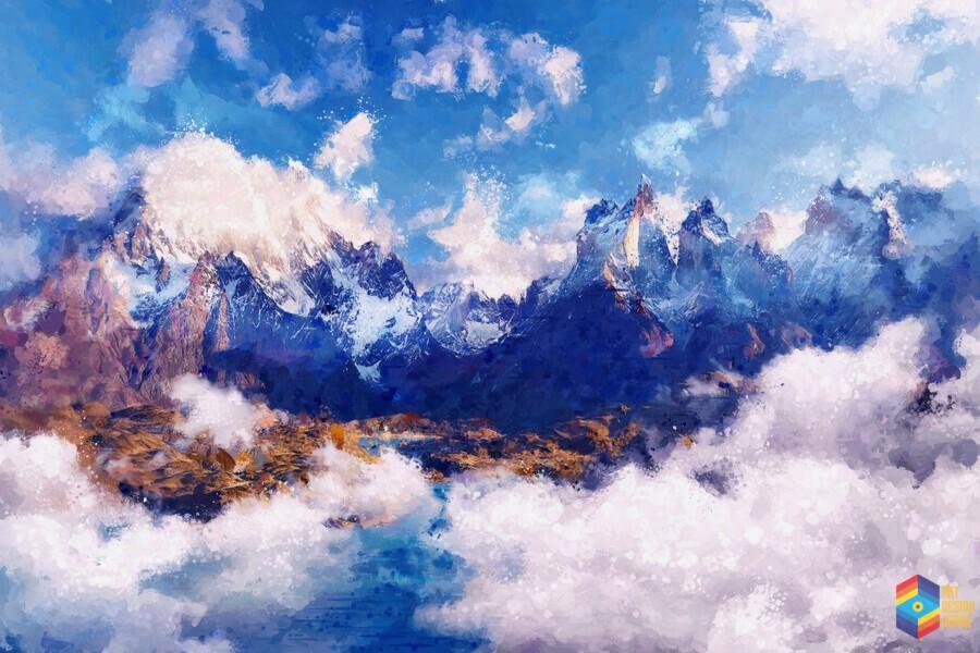Mountains Artwork II  Print
