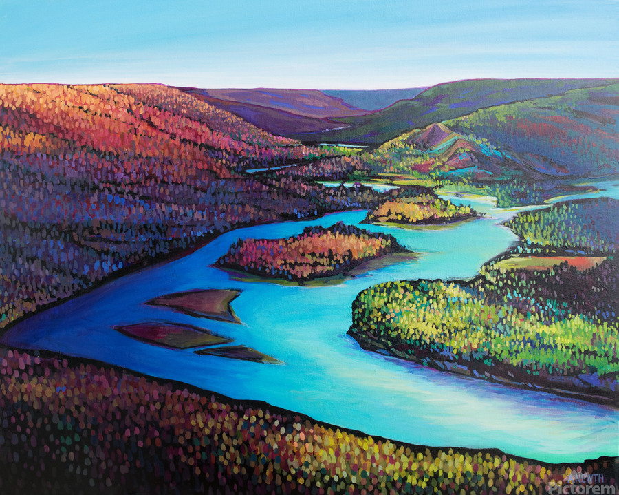 Fall Arrives at Peace River  Print