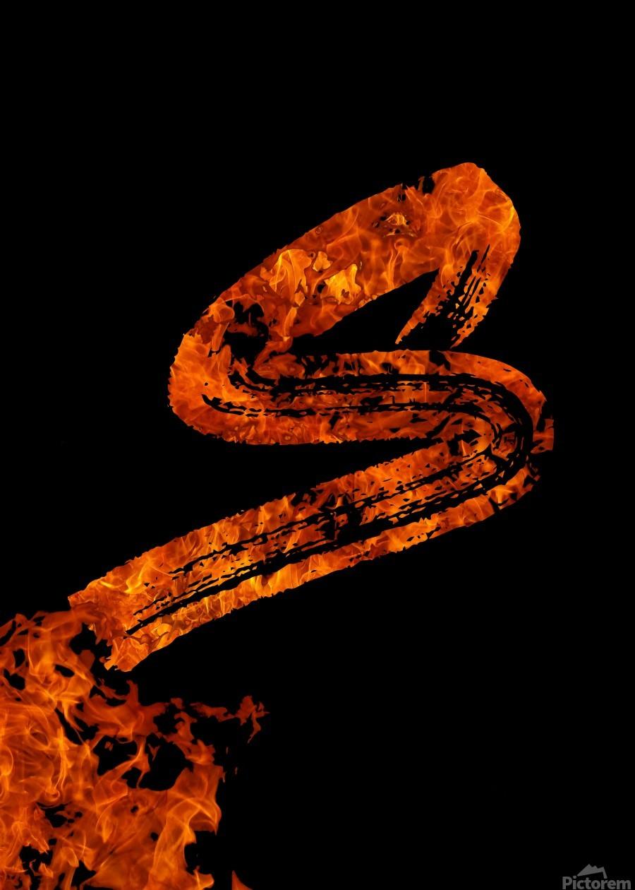 Burning on Fire Letter S  Print