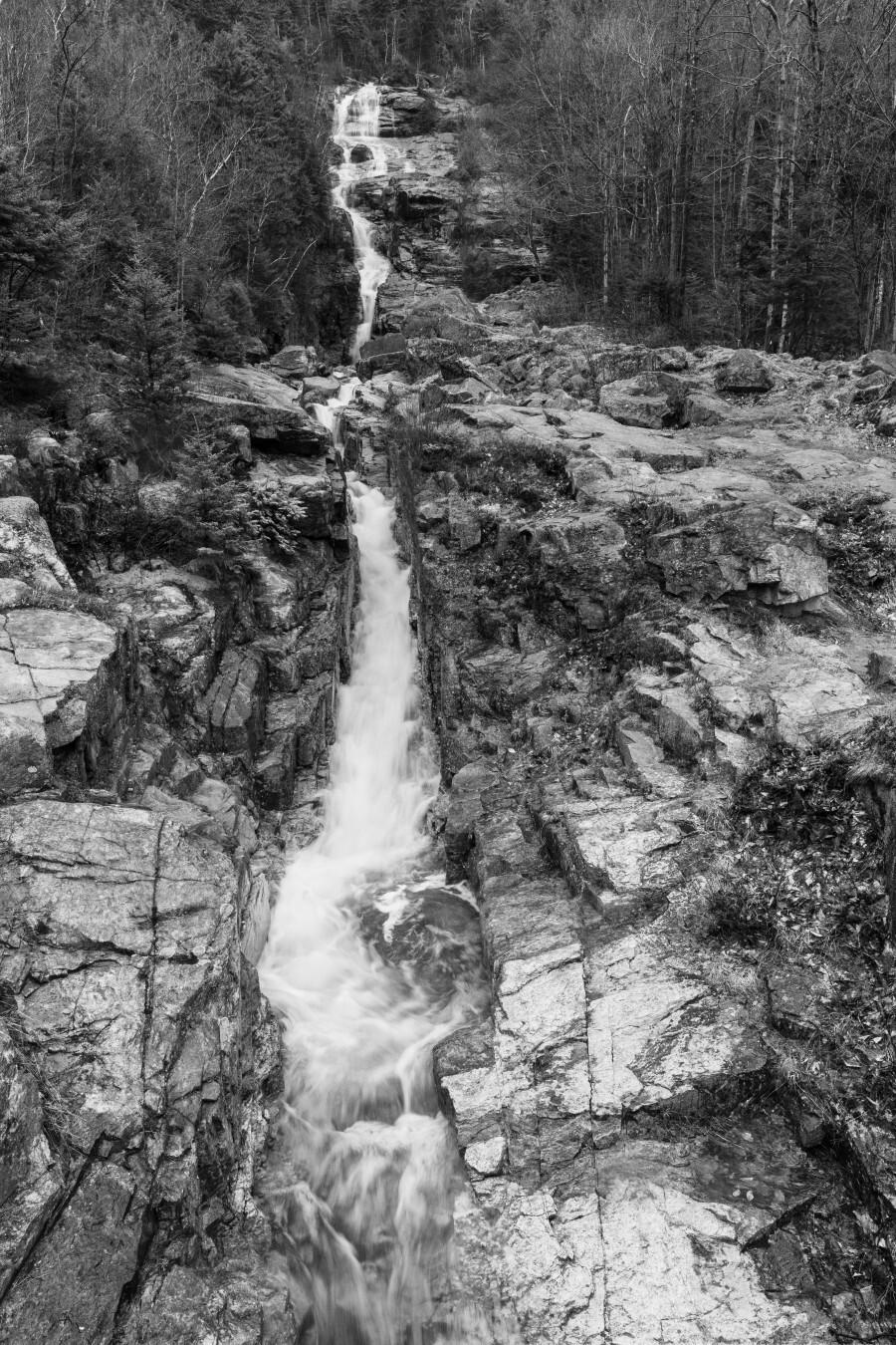 Silver Cascade Falls ap 2226 B&W  Print