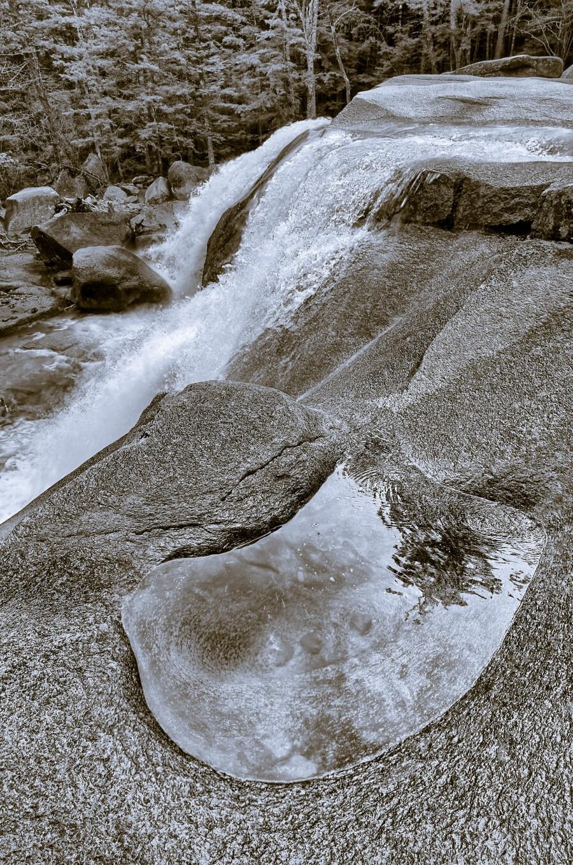 Waterfall ap 2212 B&W  Print