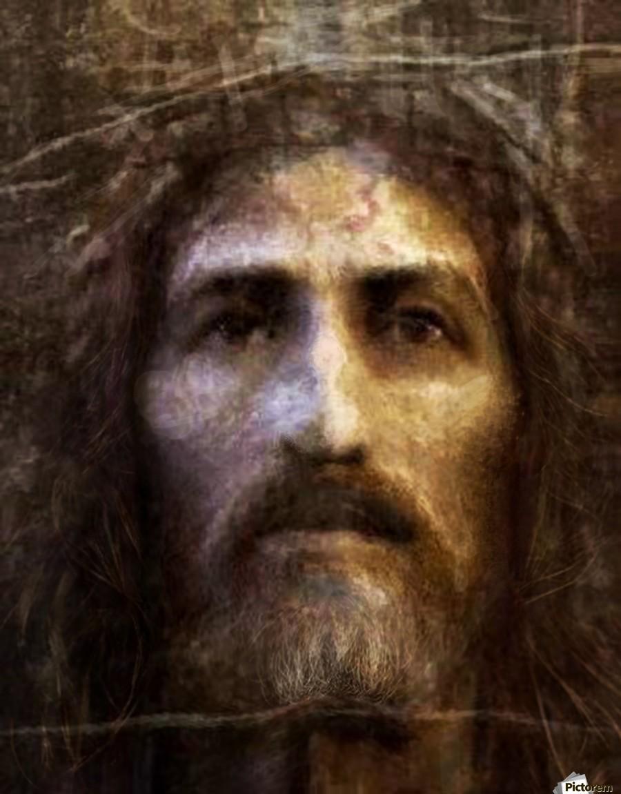 Christ Face Reconstruction Artofcaelia Canvas