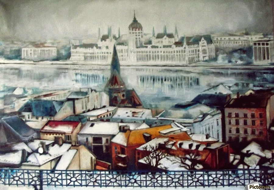 Budapest in wintertime  Print