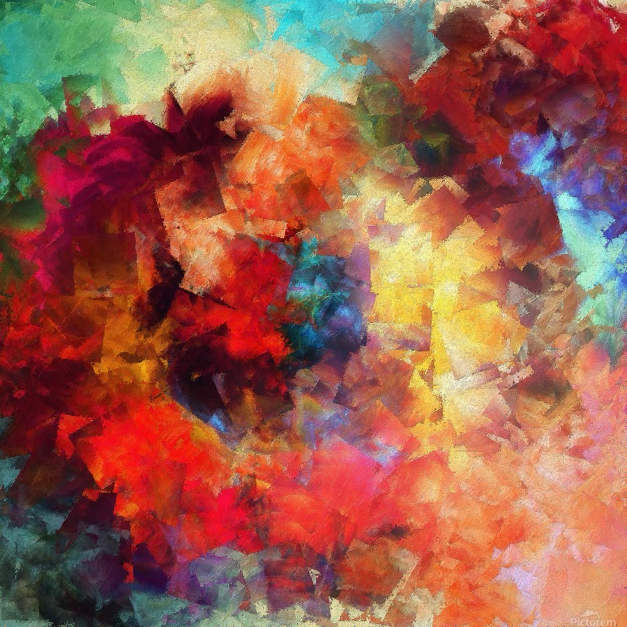 Whirling of Roses  Print