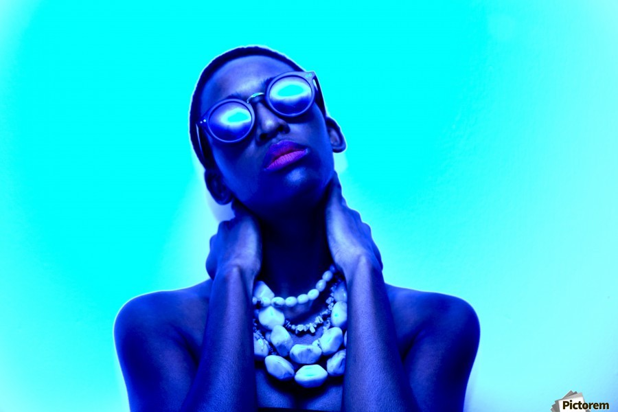Blue Black  Print