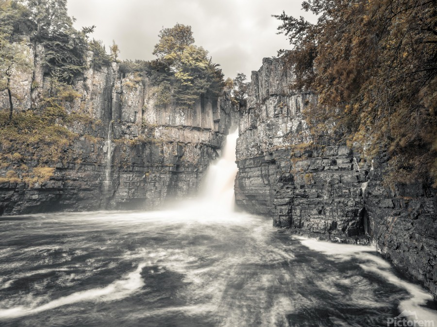 High Force waterfall, North Pennines, Yorkshire, UK  Print