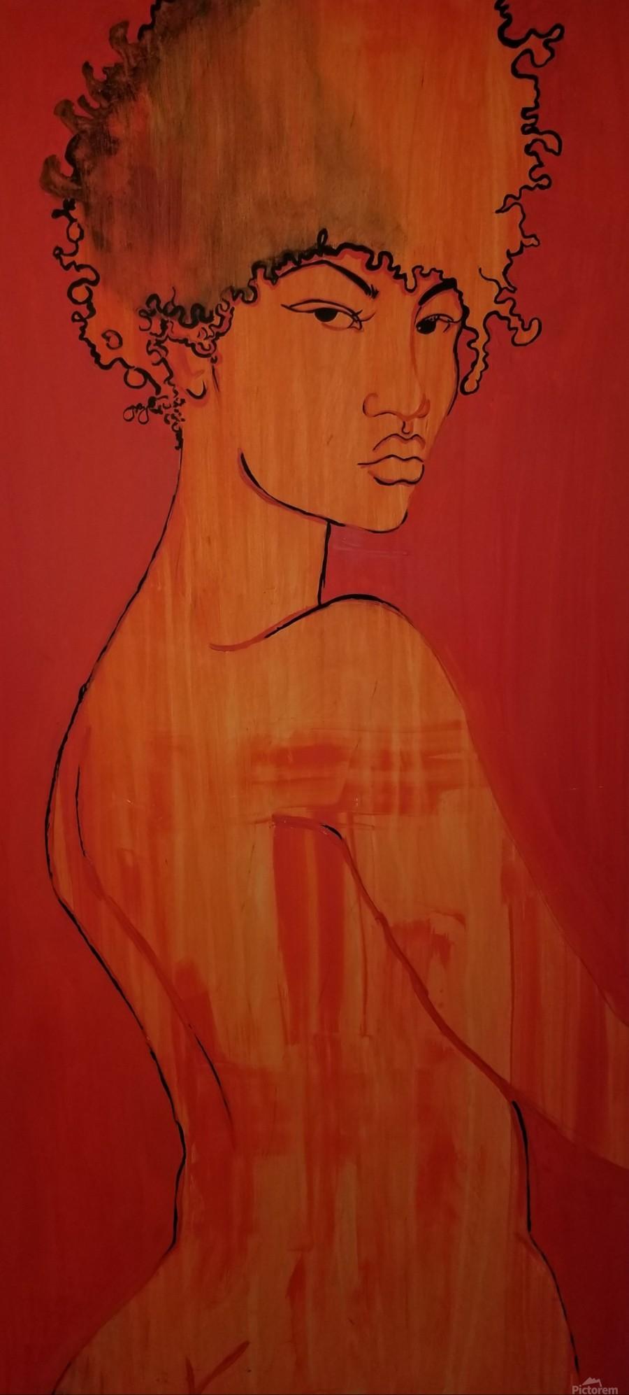 Red Girl  Print