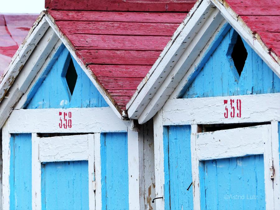 Beach cabin  Print