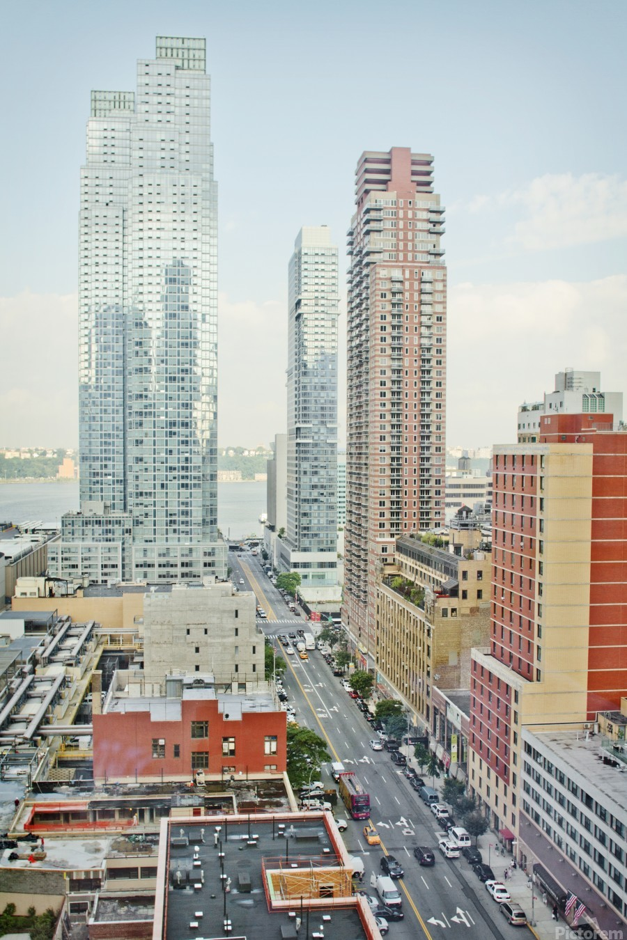 Architectural image of Hells kitchen Manhatten New york USA 2011  Print