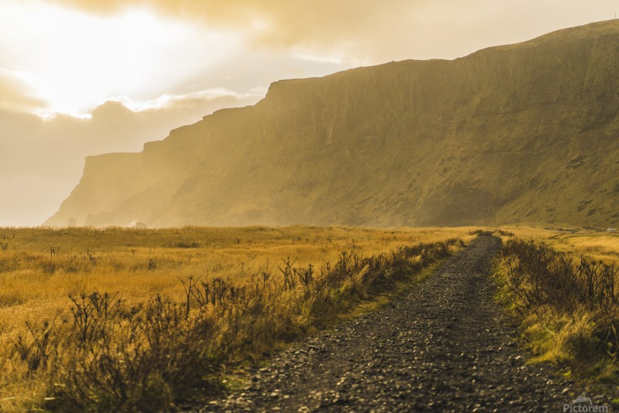 Icelandic sunset in Vik Iceland  Print