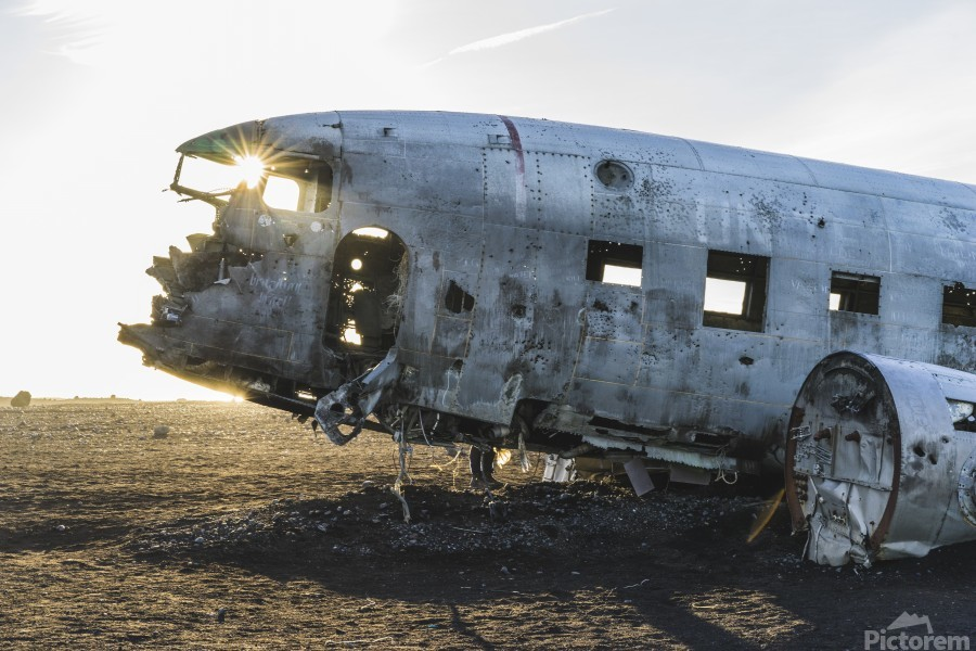 Solheimasandur Plane Crash Southern Region Iceland  Print