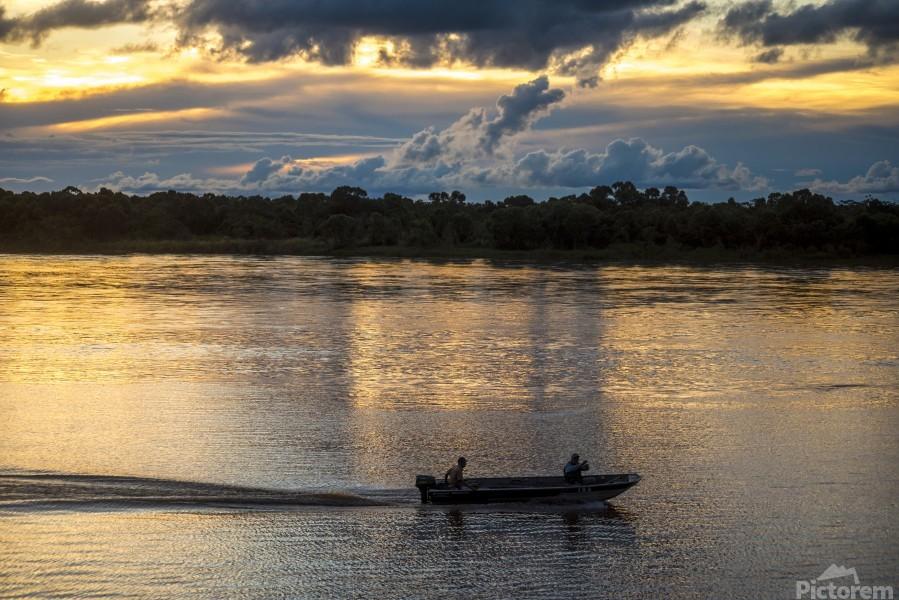 Araguaia River - Returning fishermen  Print