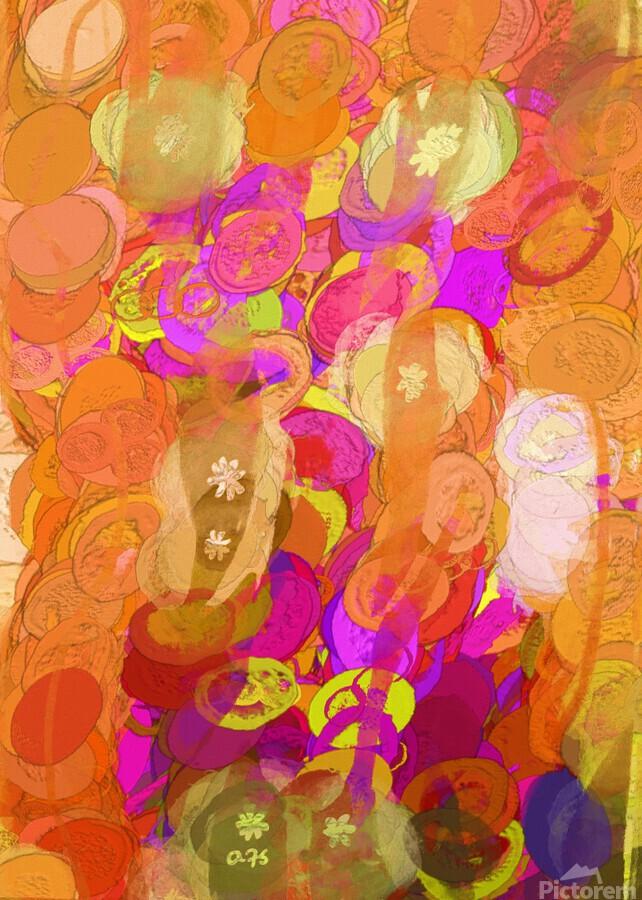 Pink and orange  Print