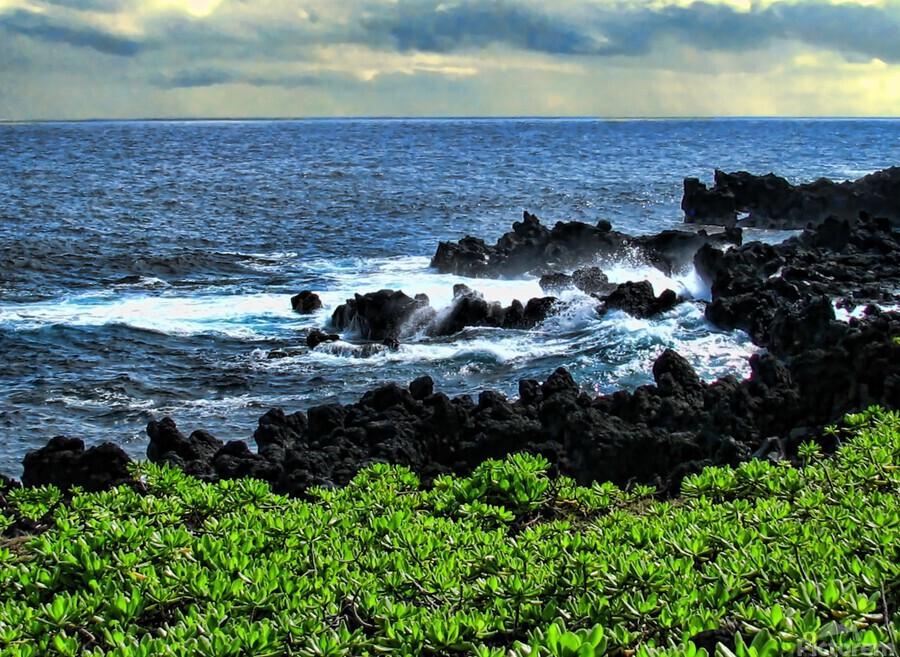 Hana Beach Hawaii  Print