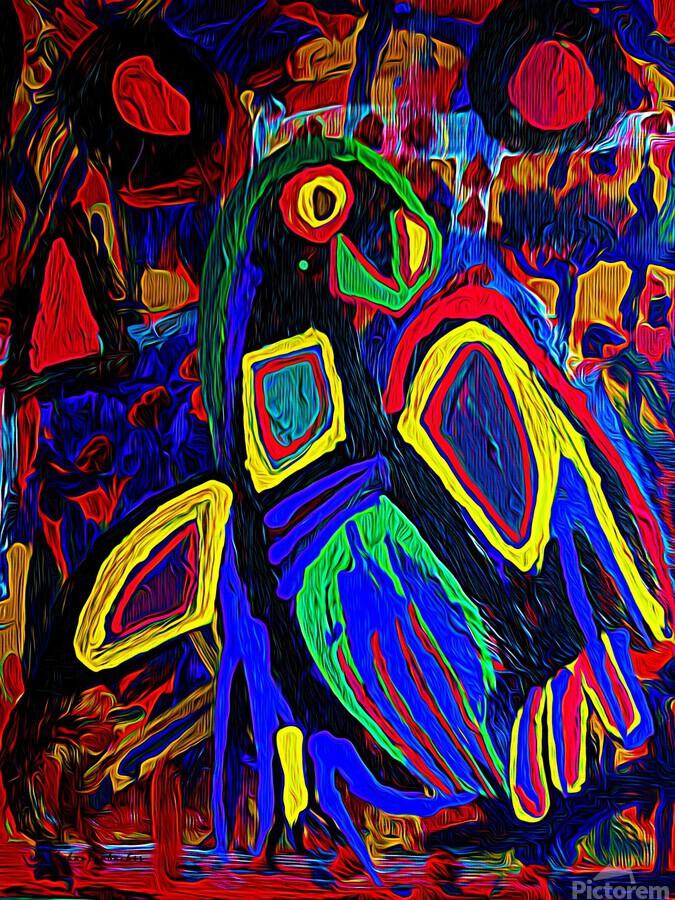 Abstract Bird  Print