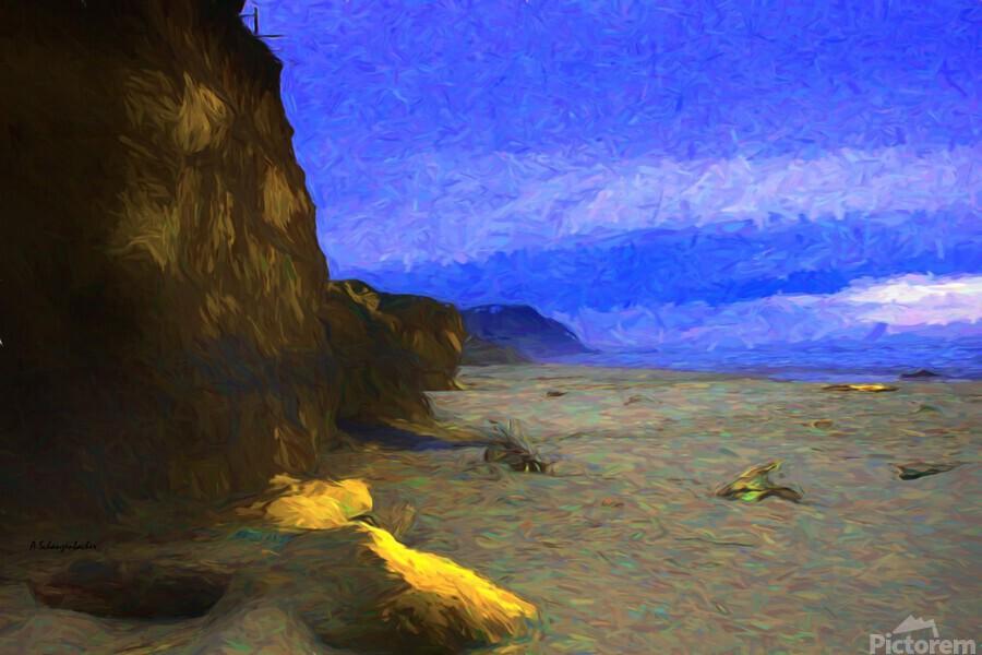 Yachats Beach Painting  Print
