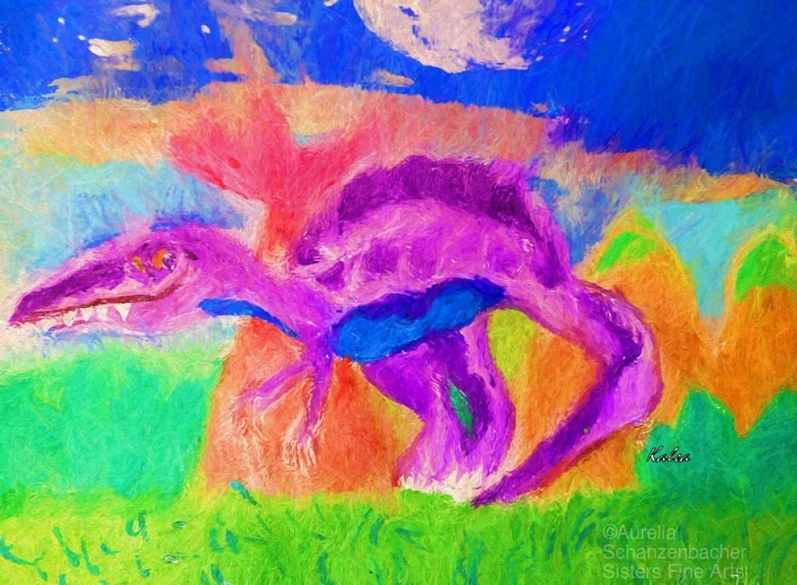 Dinosaur drawn by 5 year old  Print