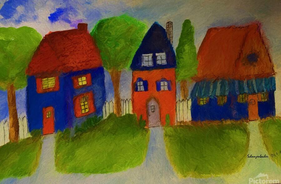 Whimsical Houses  Print