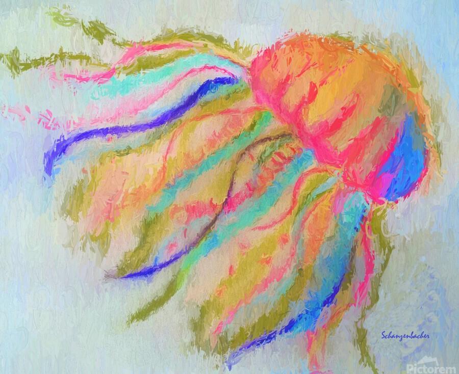 Jellyfish in watercolor  Print