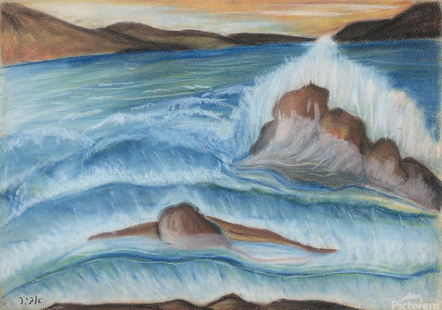 RA 002 - גל מתנפץ - crashing wave  Print