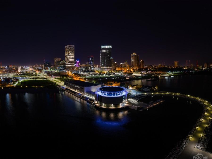 Milwaukee Circle of Lights  Print