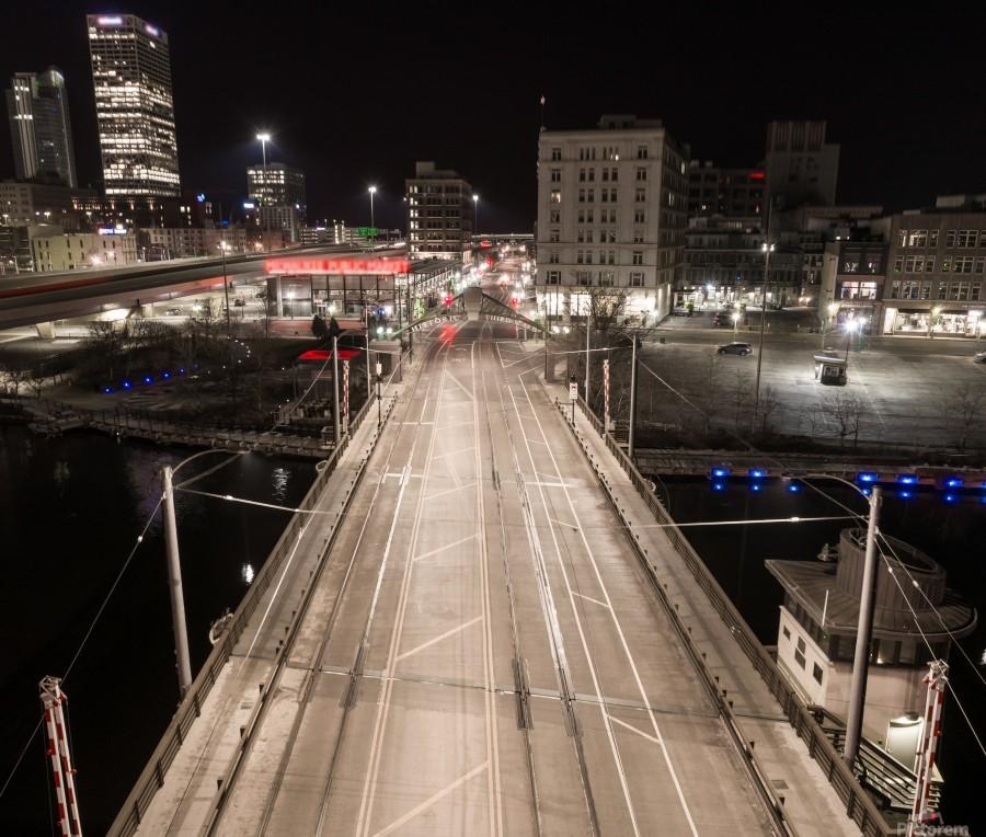 Milwaukee Bridge of The Past  Print