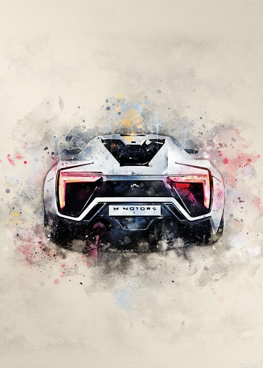 "Hypersport Car Poster 24/""x 16/"" HD"