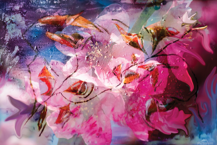 floral creation abstraction  Print