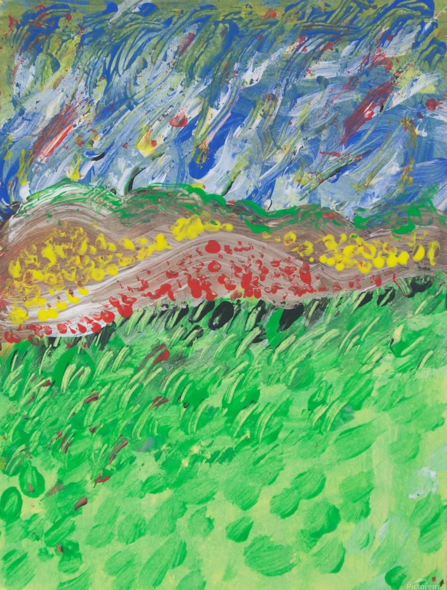 windy landscape  Print