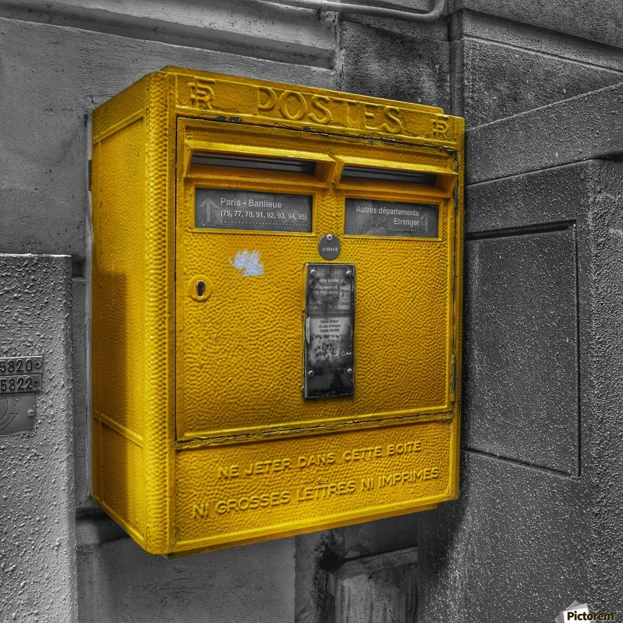 Old French Mailbox  Print