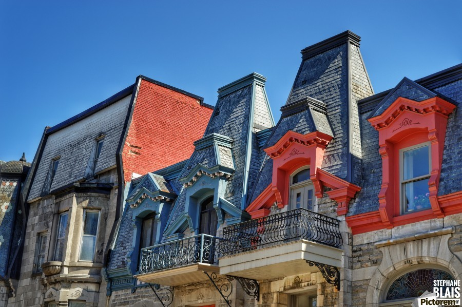 Montreal Rooftops  Print