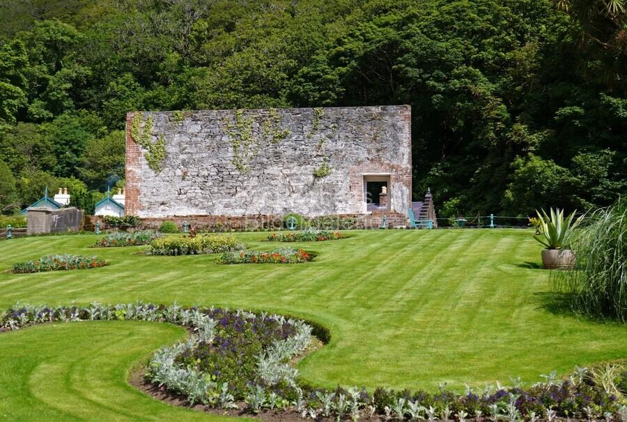 Victorian Walled Garden , Kylemore Abbey, Ireland,  Print
