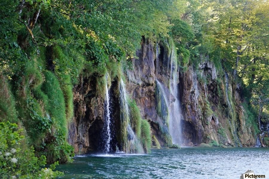 waterfall - Plitvicer lakes-nationalpark  Print