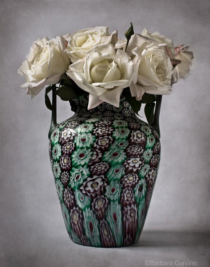 Venetian murrine vase  Print