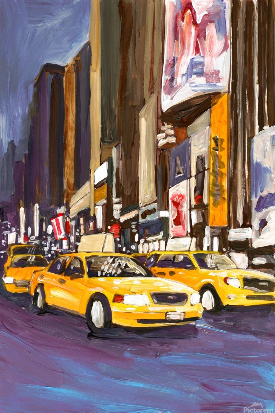 Cabs at Night  Print