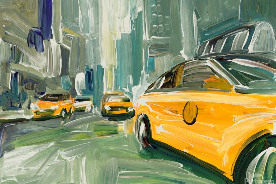 Yellow Cabs   Print