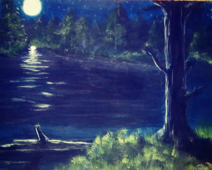 Peaceful Moonlit night  Print