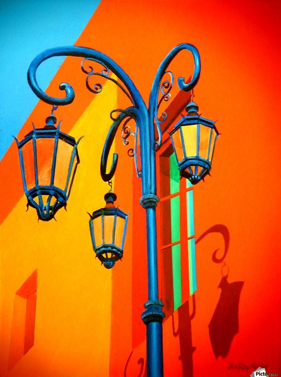 La Boca Lamp Shadows II  Print