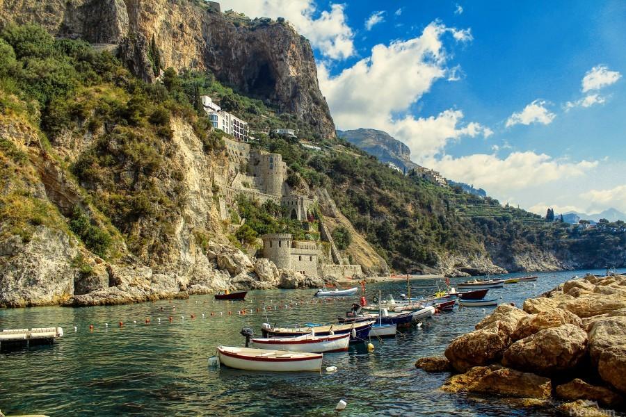 Landscape Amalfi Coast Beach Italy Bentivoglio Photography Canvas Artwork