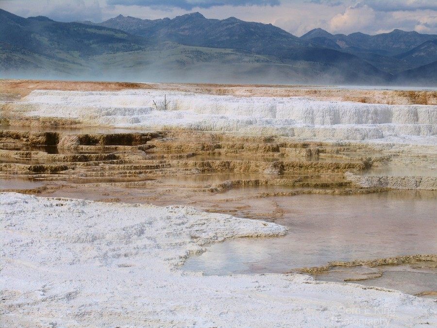 Mammoth Hot Springs part 2 Yellowstone National Park  Print