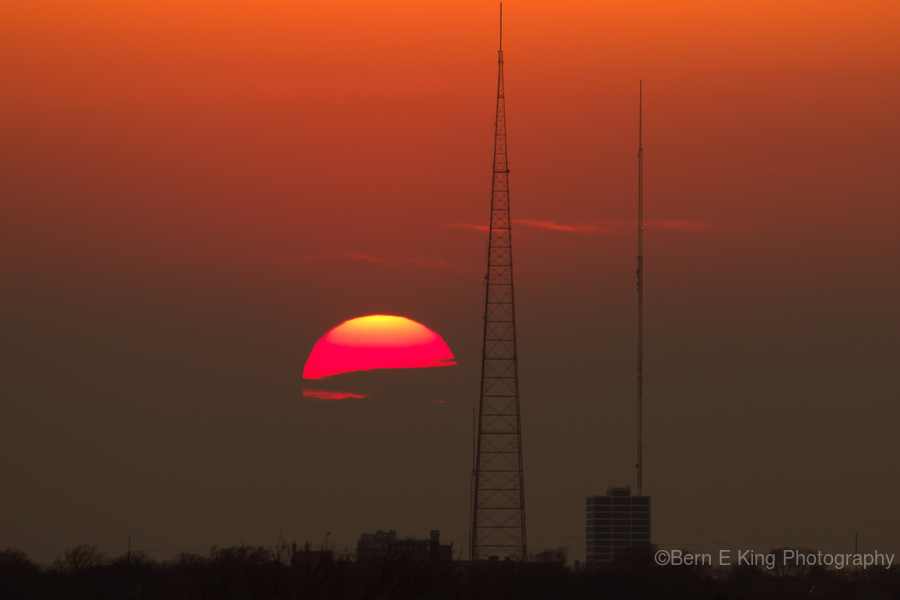 KCMO Tower Sunset   Print