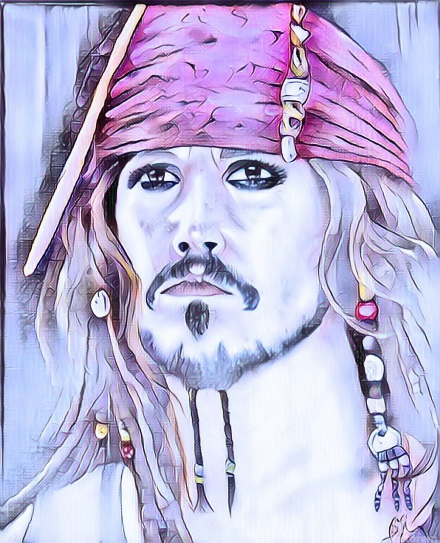 Portrait dun pirate  Print