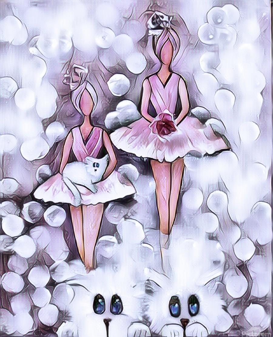 3 petits chats et ballerines  Print