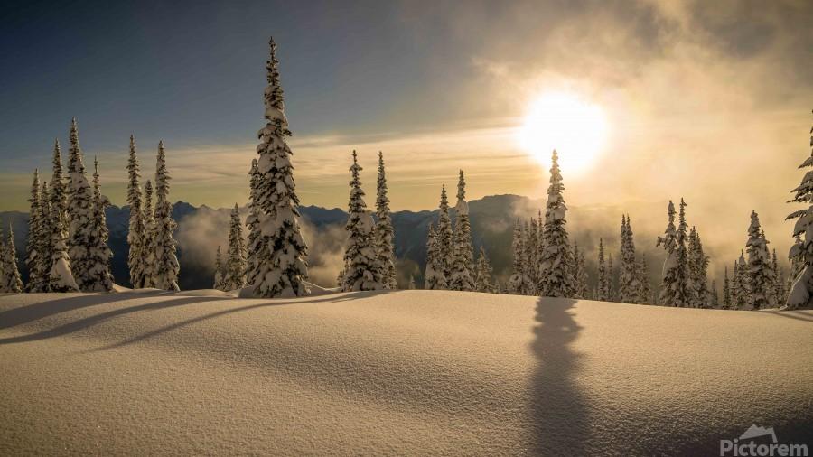 Trout lake BC Alpine sunset  Print